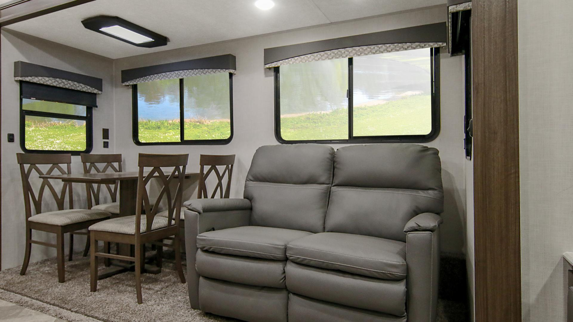 Winnebago Voyage Fifth Wheel couch and dinette