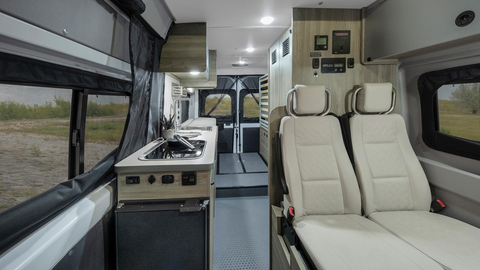 Winnebago Solis full view, front to back