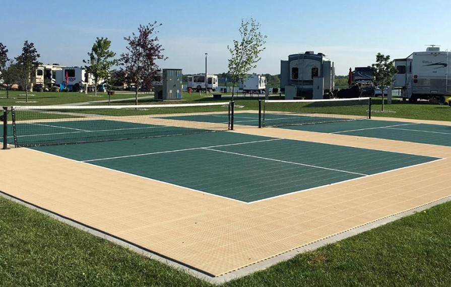 Pickleball court at RV park