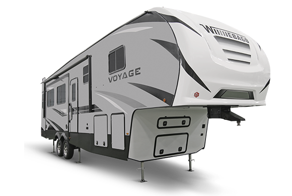 Winnebago Voyage Travel Trailer 3/4 exterior view