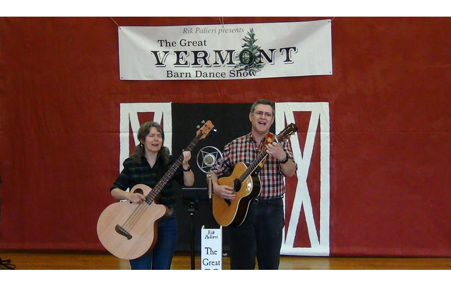 Faith and Daniel Senie performing at Vermont Barn Dance Show