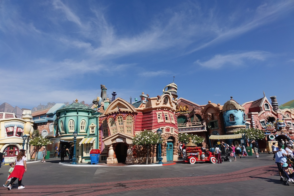 Fun buildings at Disneyland.