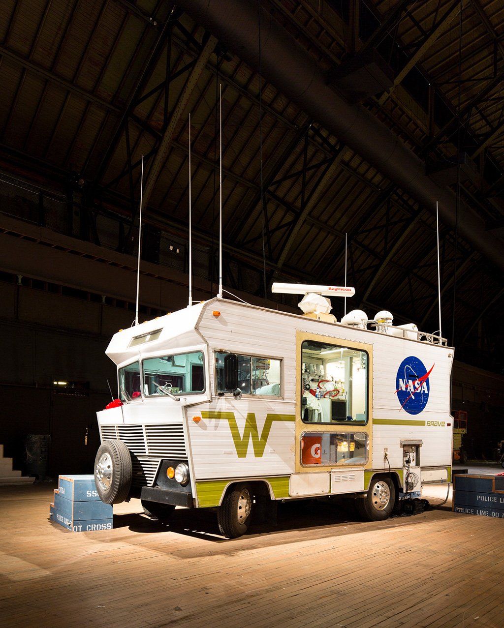 Winnebago Brave as part of a display by sculptor Tom Sachs.