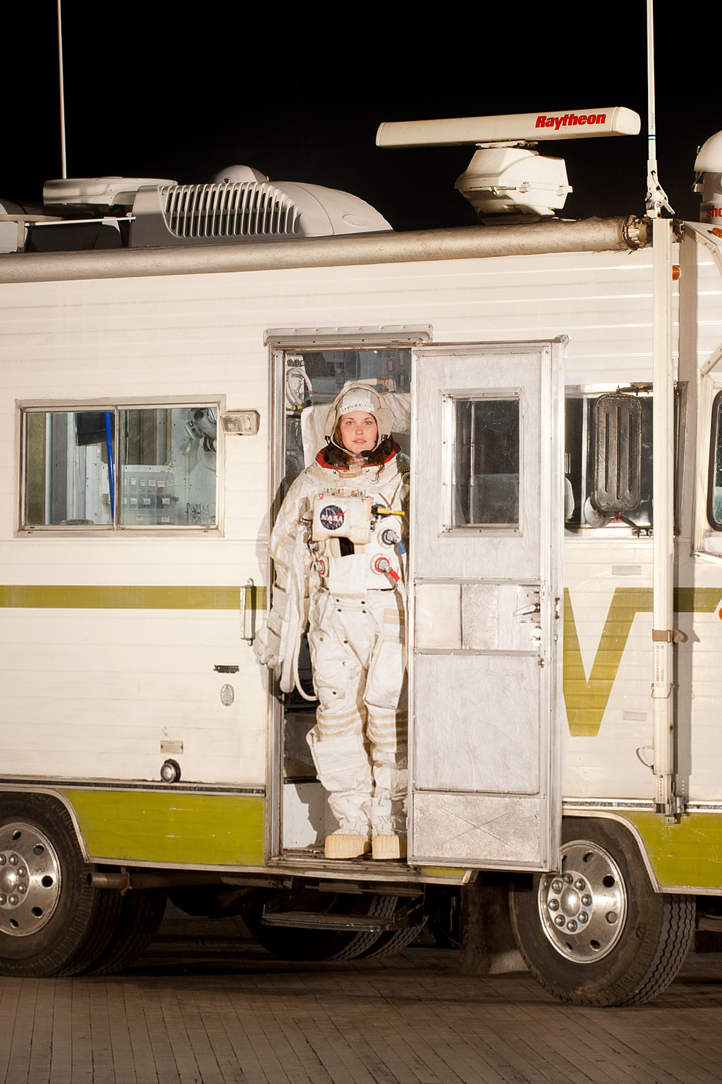 Space suit in Winnebago Brave.