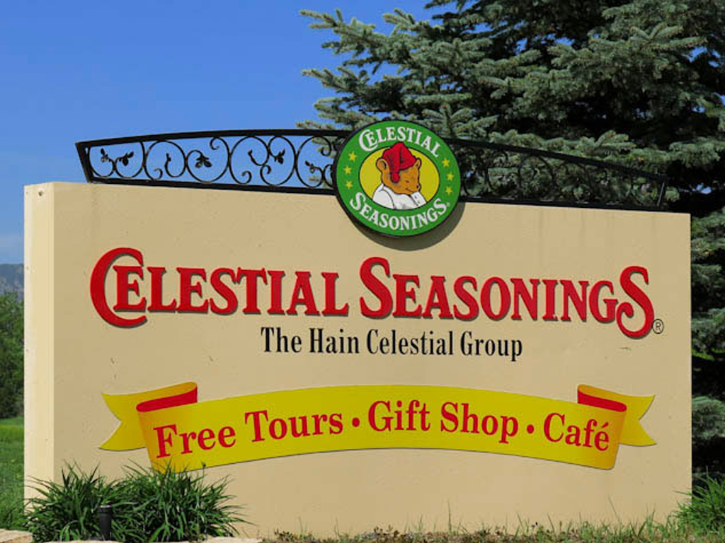 Sign at entrance of Celestial Seasonings.
