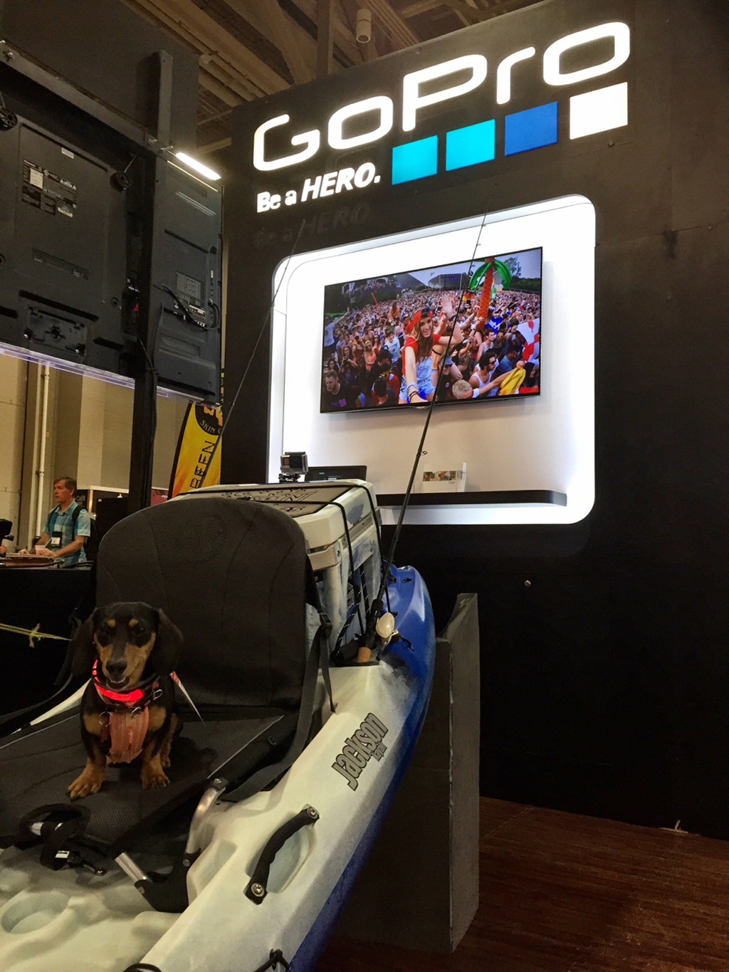 GoPro booth at a show.