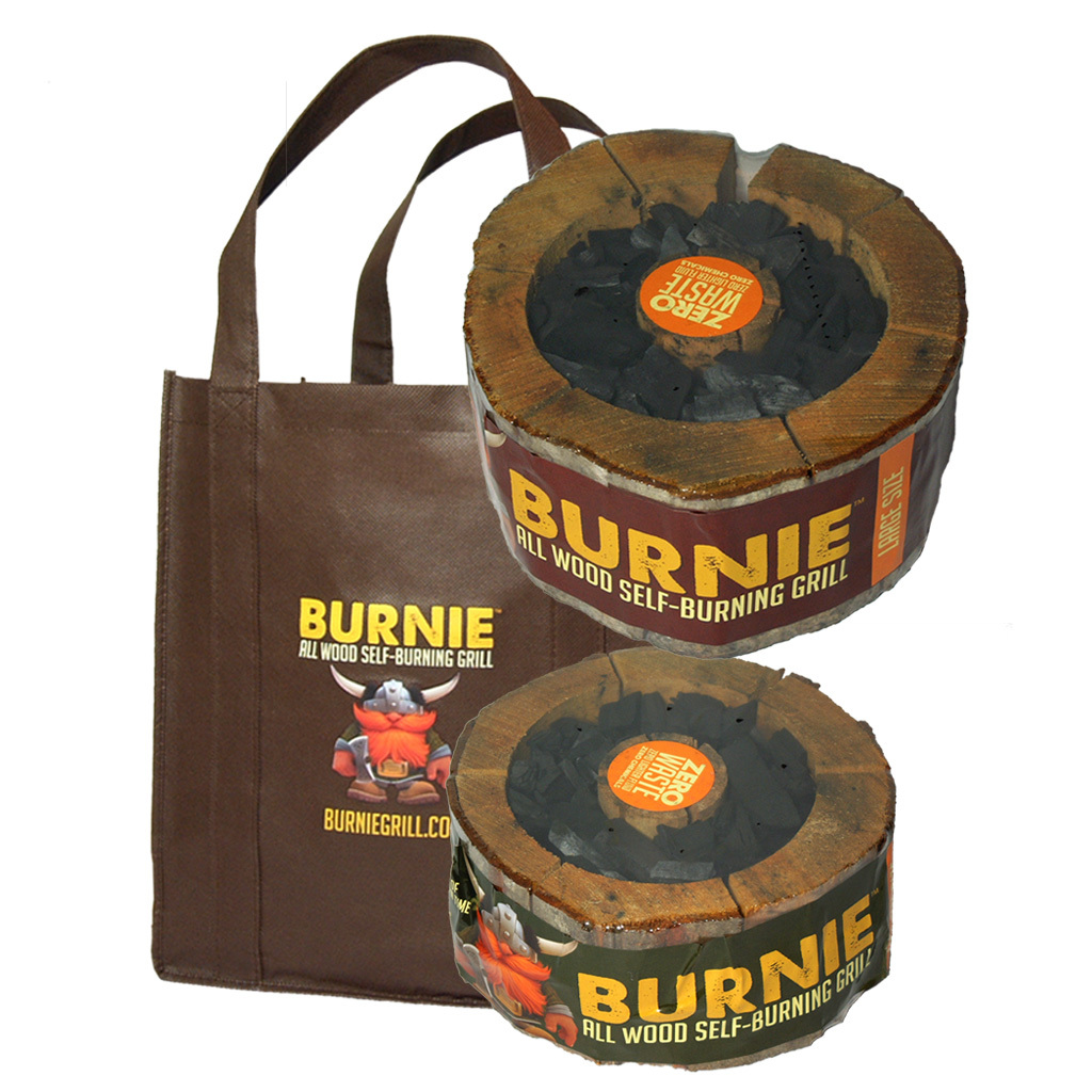 Burnie all-wood self-burning grill pack