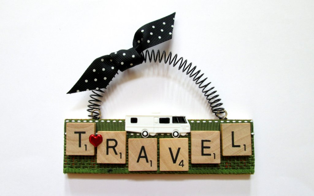 Travel Scrabble ornament