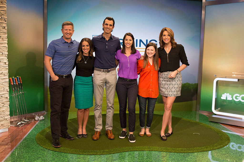 Brittany and Jordan with Golf Channel Morning Drive crew.