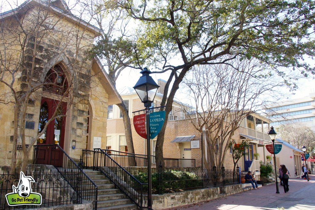 Buildings in the Historic Arts Village.