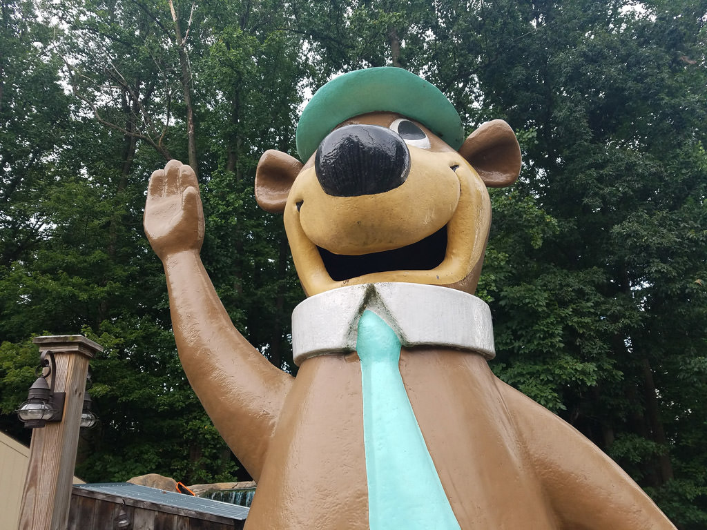 Yogi Bear statue at Jellystone campground