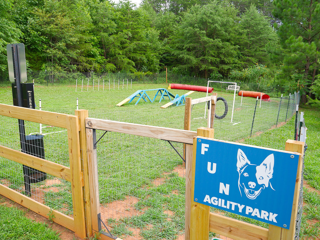 Agility park at the campground
