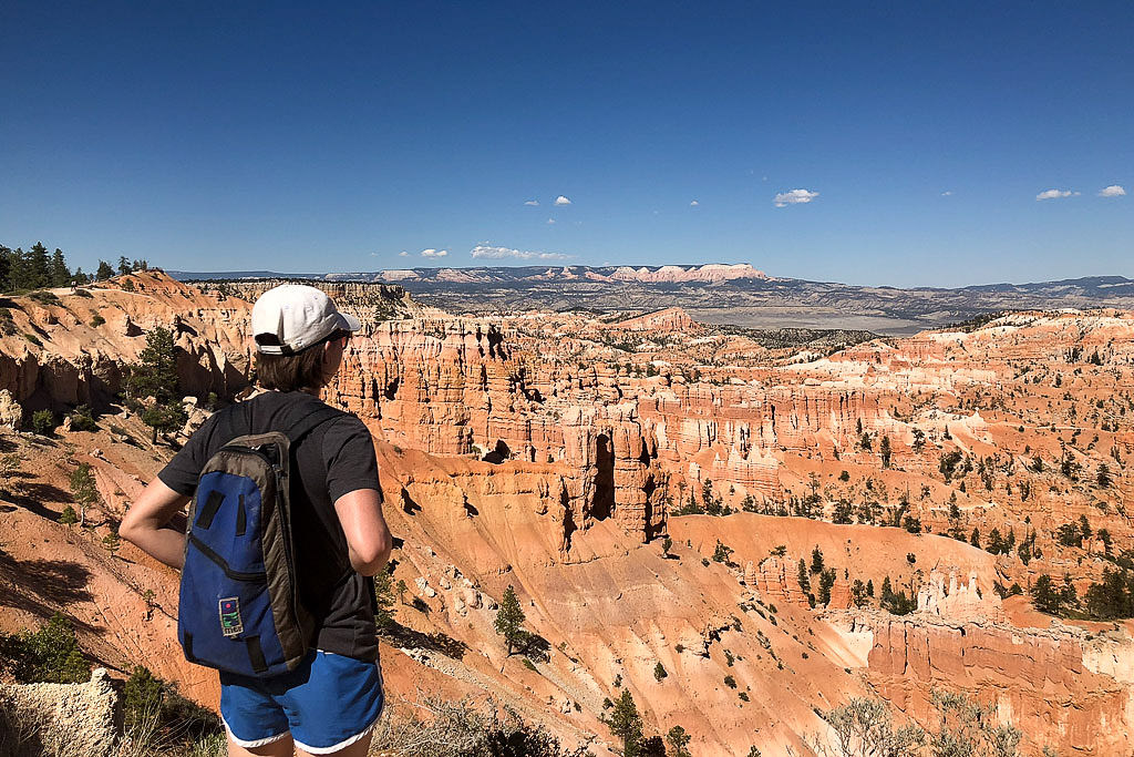 Brittany taking in the view of the canyon at Bryce Point