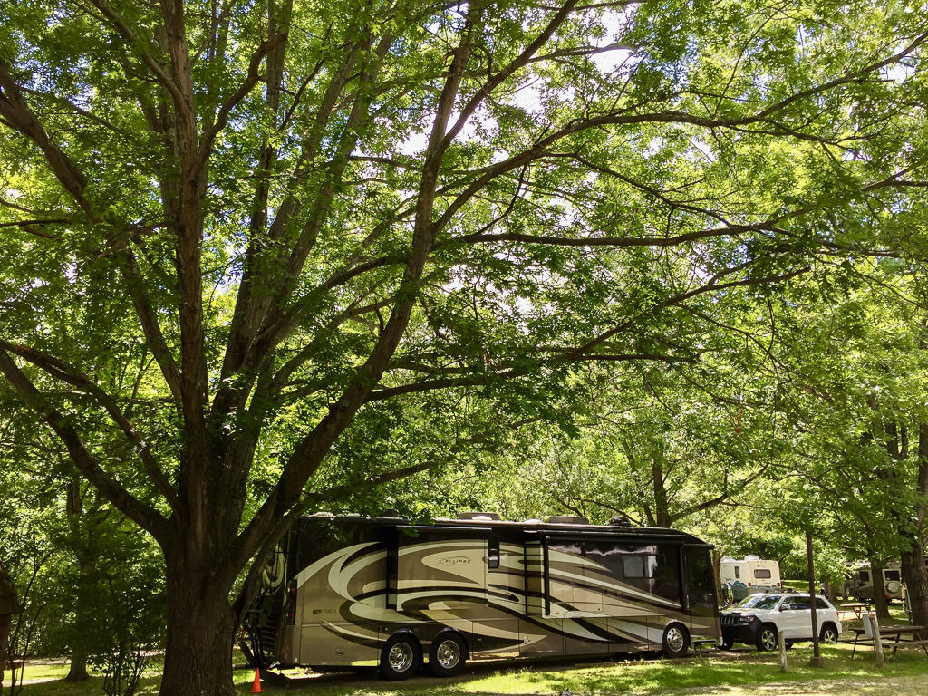 Ellipse parked in campsite