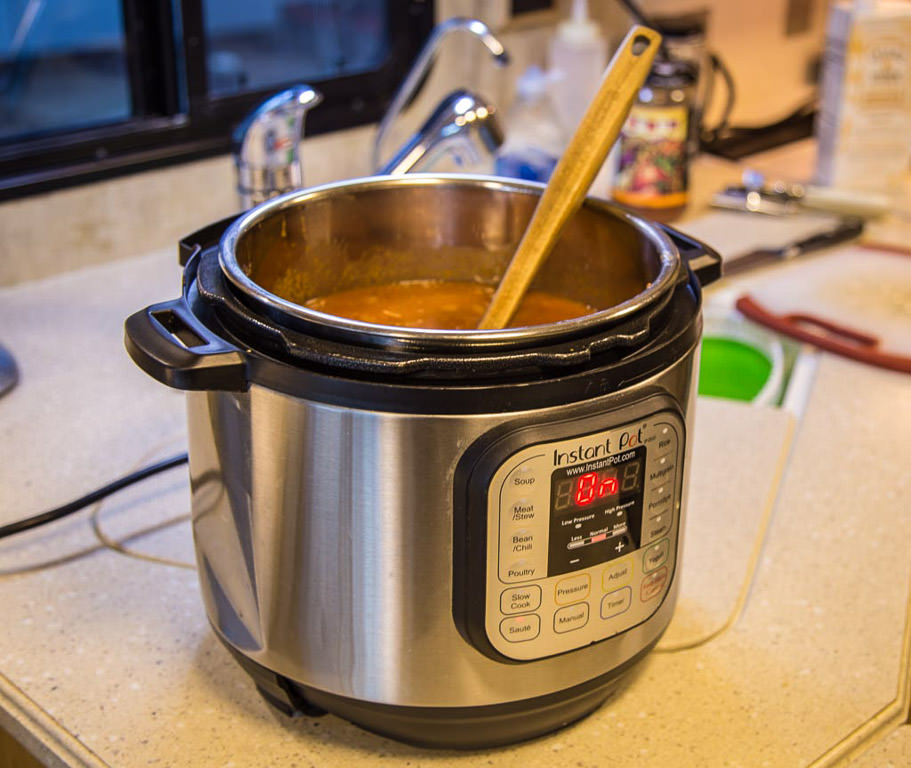 Detail view of Instant Pot