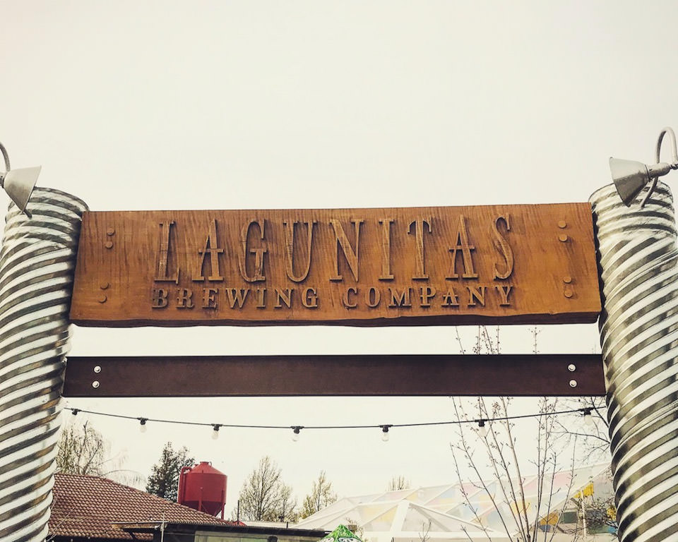 Sign for Lagunitas Brewing Company.