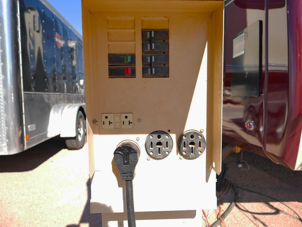 Power hook up for camper
