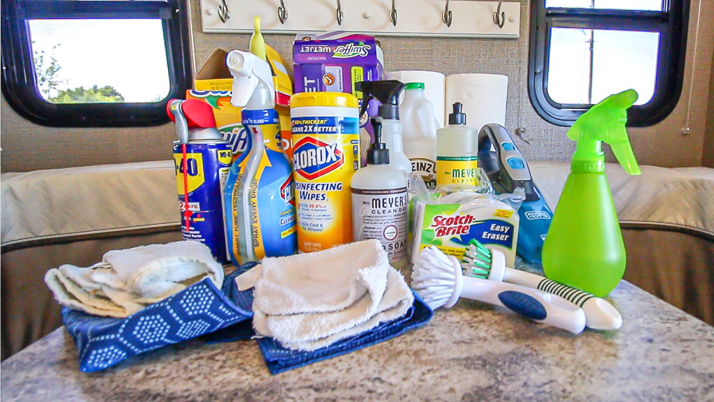RV Spring Cleaning supplies