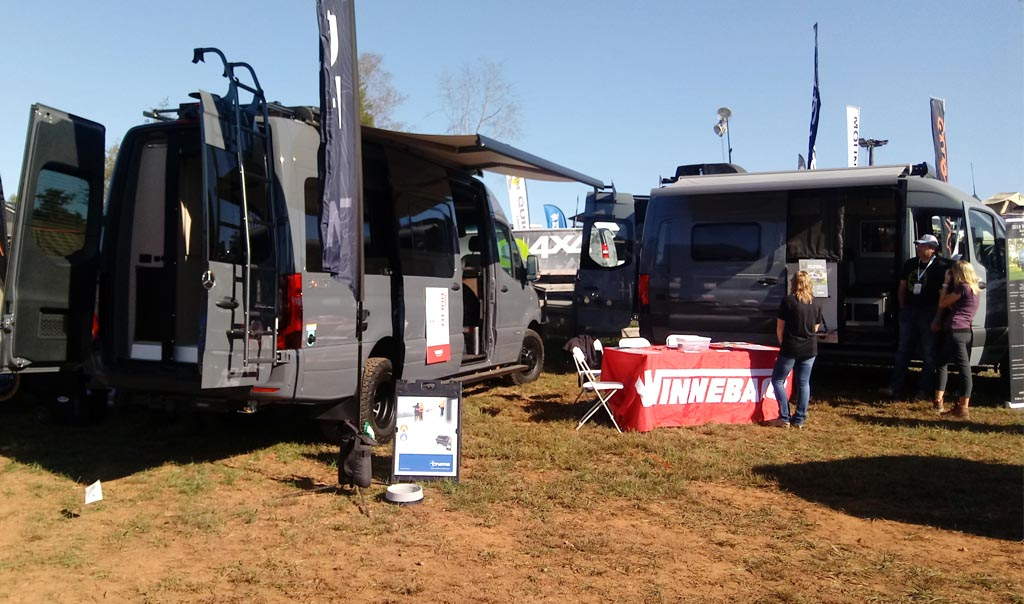 Winnebago display at the Overland Expo East